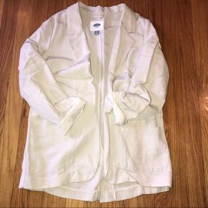 Light Tan Boyfriend Linen Blazer